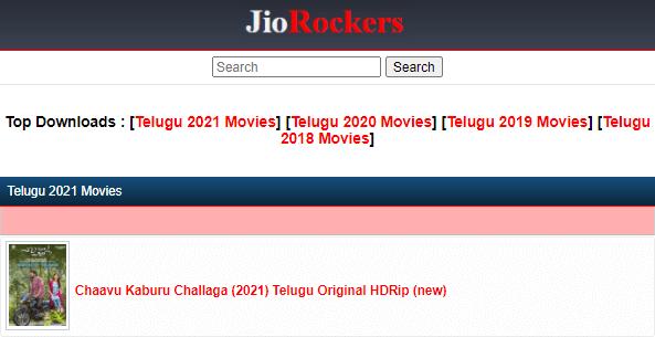 JioRockers: Illegal HD Movies Download Free