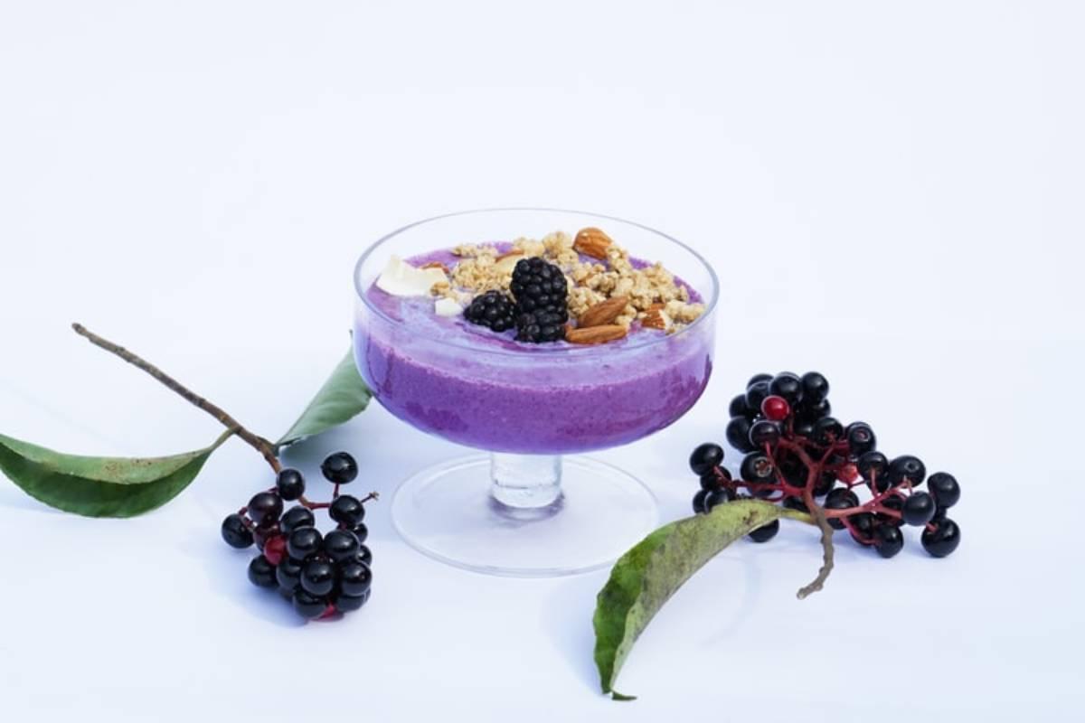 Greek yogurt and mixed berries