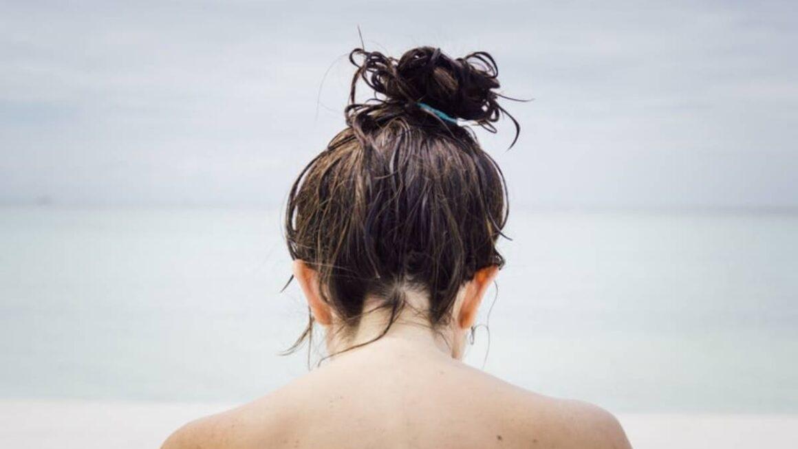hair wet