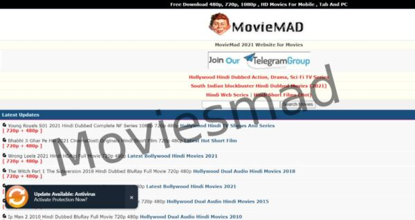 Moviesmad 2021 – Website for illegal download of HD movies