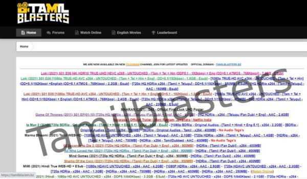 Tamilblasters 2021: South Indian movie download website